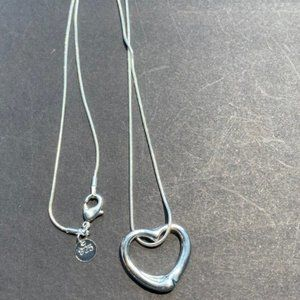 Jewelry - NWOT Silver Plated Big Heart Pendant Necklace